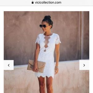 White lace vici dress